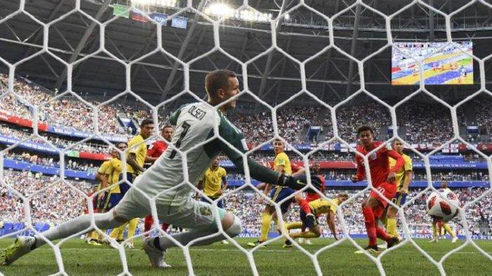 Perempat Final Piala Dunia 2018, Inggris Jebol Gawang Swedia 1-0 di Babak Pertama
