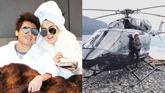Bulan Madu Keliling New Zealand Naik Helikopter, Syahrini Pakai Jaket Berharga Fantastis