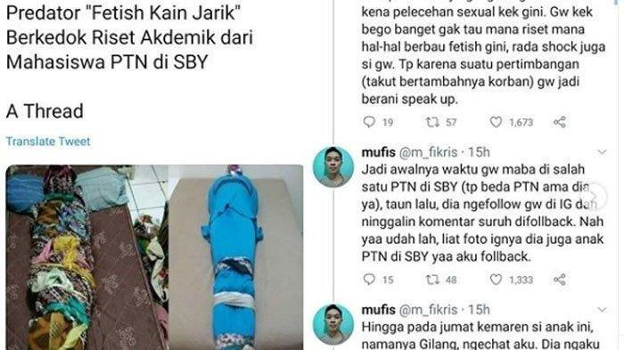 Setelah Viral di Twitter, Tim Siber Polda Jatim Akhirnya Bergerak Selidiki Kasus Fetish Kain Jarik