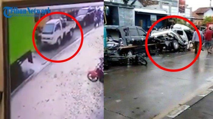 Viral Video Tabrakan Karambol di Kudus, Pick Up Ringsek Dijepit Truk, Sopir Lolos dari Maut