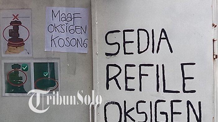 Mudahnya Lihat Tulisan 'Maaf Oksigen Kosong', di Beberapa Depo Pengisian Tabung di Wilayah Sragen