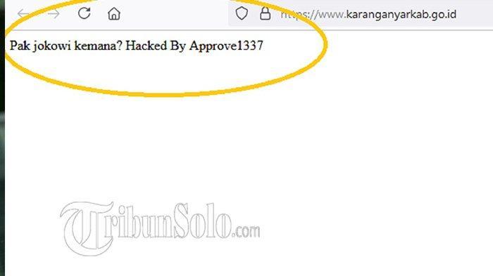 Hanya Karanganyar, Situs Resmi Pemkot & Pemkab di Solo Raya Lainnya Bisa Diakses, Tak Diretas Hacker