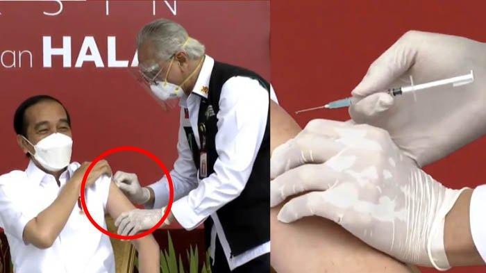 Ucapan Jokowi kepada Dokter Abdul Muthalib yang Tangannya Gemetaran saat Suntikkan Vaksin Covid-19