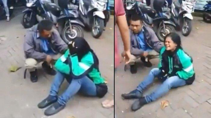 Viral Video Tangisan Driver Ojol Cewek Menangis saat Tahu Motornya Raib Digondol Maling