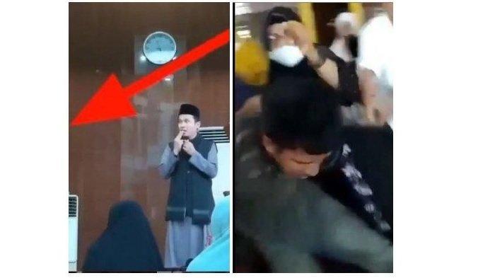Beredar Video Ustaz Chaniago Diserang saat Ceramah, Ibu-ibu Pengajian Langsung Beri Tindakan