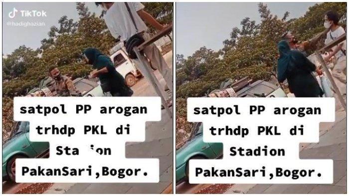 Beredar Video Oknum Satpol PP Arogan Terhadap PKL di Bogor, Pelaku Kini Akan Dikenai Sanksi