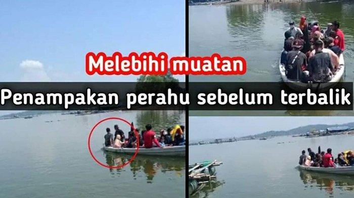 Tangkapan layar foto yang beredar di Media Sosial sebelum perahu terbalik.