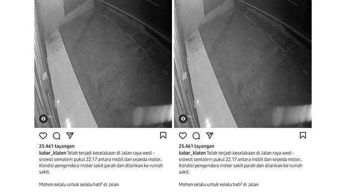 Viral Kecelakaan Motor Vs Mobil di Jalan Srowot-Wedi Klaten, Ternyata Begini Kronologinya
