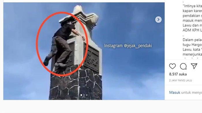 Pendaki Panjat Tugu Hargo Dumilah di Puncak Gunung Lawu, Bupati Juliyatmono: Bakal Kena Blacklist