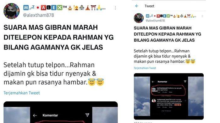 Viral Video Suara Gibran Marahi Netizen di Twitter, Ternyata Hoaks: Itu Bukan Suara Saya