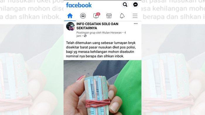 Temukan Gulungan Uang Rp 50 & Rp 100 Ribu dekat Pasar Nusukan, Warga Solo : Was-Was Sebenarnya