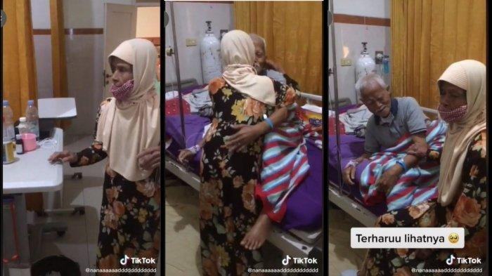 Momen Viral di Tik Tok, Kakek dan Nenek Lepas Rindu Hingga Berpeluk Mesra Bak Anak Muda
