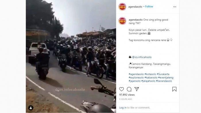 Libur Panjang, Jalan Tawangmangu Sempat Lumpuh, Macet Sejak Pagi, Relawan Sampai Turun Tangan