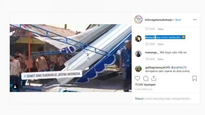 Video Viral Tenda Pernikahan Diterjang Puting Beliung di Sukoharjo, Ini yang Sebenarnya Terjadi