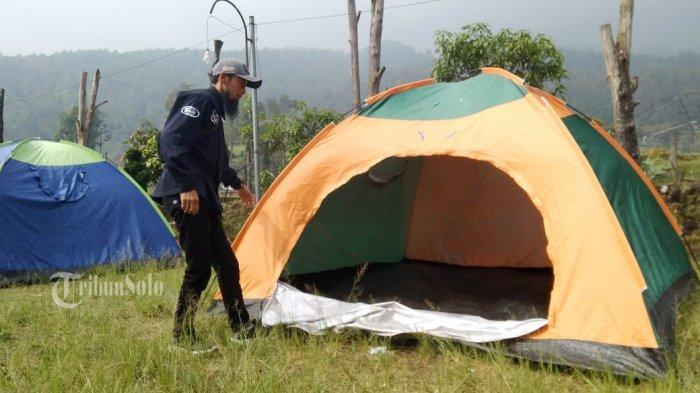 Ini Fasilitas Lokasi Karantina Pemudik di Berjo Karanganyar : Tenda Hanya Boleh Diisi 2 Orang