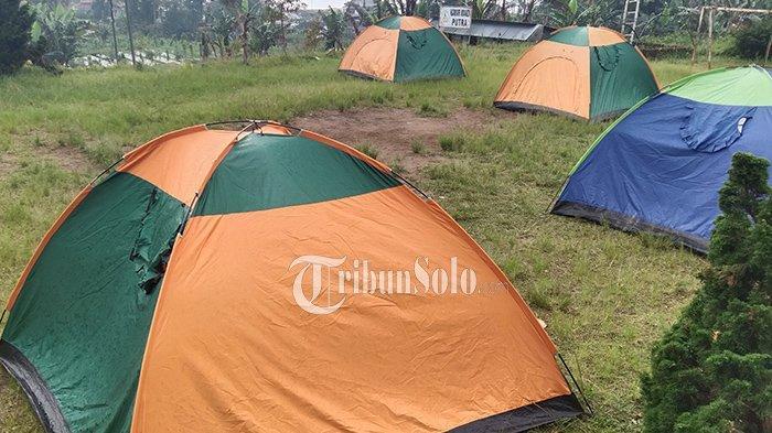 Sensasi Karantina Pemudik Ala Desa Berjo, Pakai Tenda Kemah, Bisa Lihat Panorama Gunung Lawu