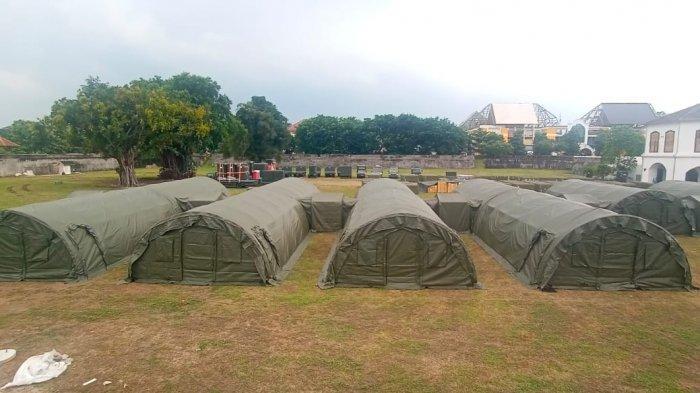 10 Tenda Sudah Didirikan di Rumah Sakit Lapangan Benteng Vastenburg Solo, Begini Penampakannya