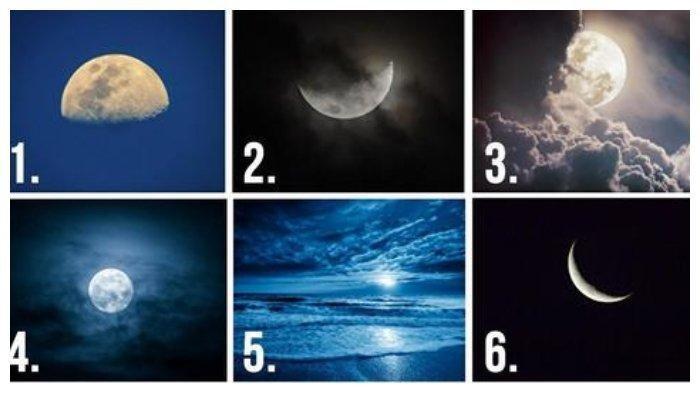 Tes Kepribadian: Pilih Gambar Bulan di Bawah Ini, Jawabanmu Bisa Menunjukkan Sifat Aslimu