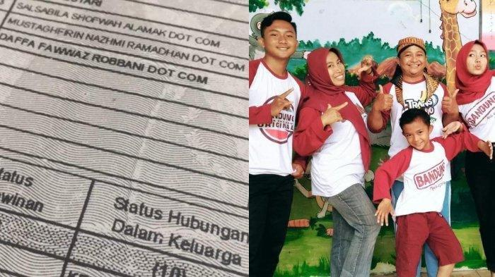 Viral Nama 3 Anak di Keluarga Asal Gresik Ada Tambahan Dot Com, Ternyata Maknanya Mendalam