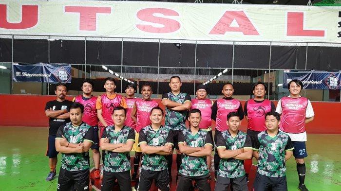 Laga Persahabatan, Tim Futsal Jurnalis Solo dan Rutan Solo Sama-sama Kuat