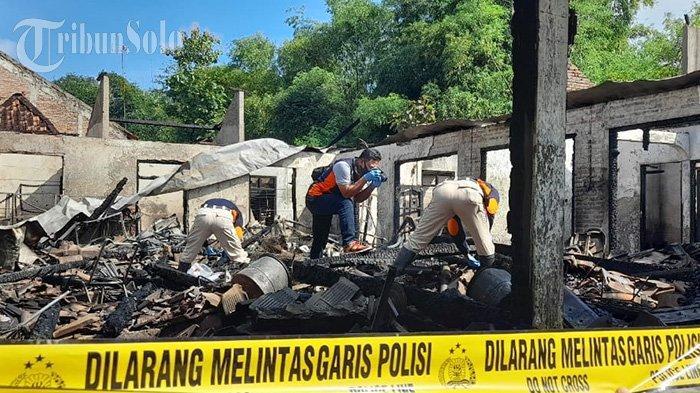 Kebakaran Hebat di Sragen, Gudang Perkakas dan Rumah Ludes Terbakar, Kerugian Capai Miliaran Rupiah