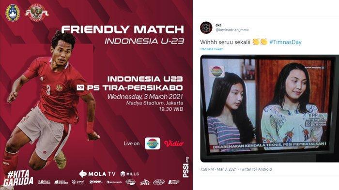 Ungkapan Kekecewaan Netizen, Setelah Laga Timnas U-23 vs Persikabo Tira Dibatalkan