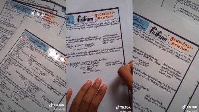 Bak Ketikan di Komputer, Siswi SMA Ini Punya Tulisan Tangan yang Rapi, Ternyata Ini Rahasianya