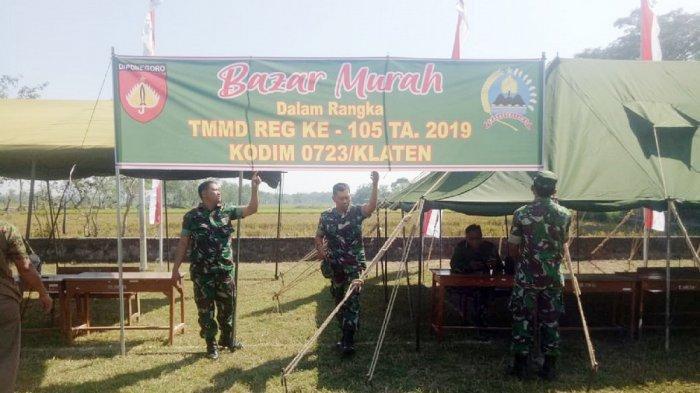 Bazar Murah Meriahkan Acara Pembukaan TMMD Reguler ke-105 di Klaten