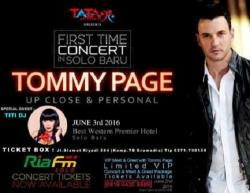 Tiket Konser Tommy Page Tersedia di Radio Ria Fm Solo