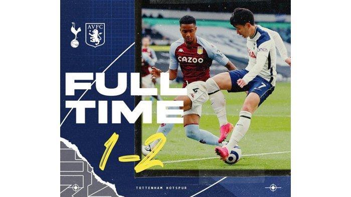 Hasil Liga Inggris : Tottenham Remuk, Kalah Lawan Aston Villa, Main di Liga Maljum Pun Terancam Zonk