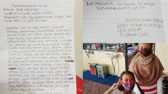 Prihatin Nasib Ayahnya saat PSBB, Bocah di Klaten Surati Bupati:Apa Corona Hanya di Malam Hari Saja?