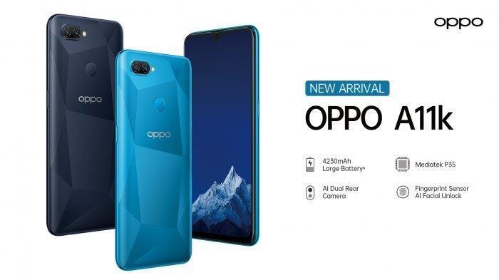 Oppo A11k Resmi Meluncur di Indonesia, Dijual Mulai Rp 1,7 Jutaan dan Ini Spesifikasinya