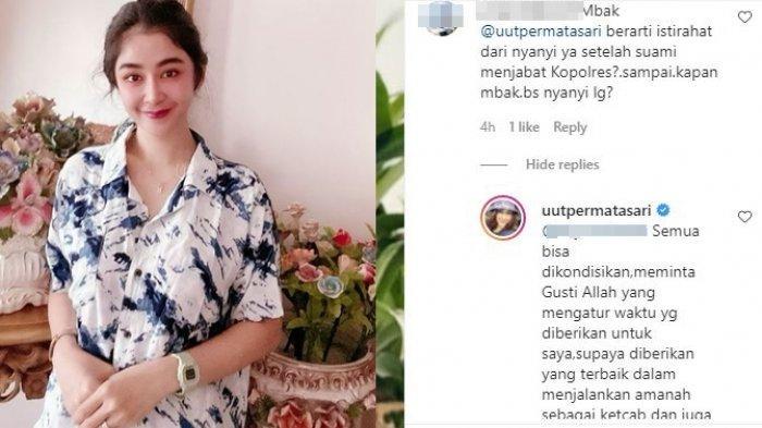 Unggahan Instagram Uut Permatasari. Penyanyi dangdut ini beri jawaban bijak saat ditanya soal kelanjutan kariernya.
