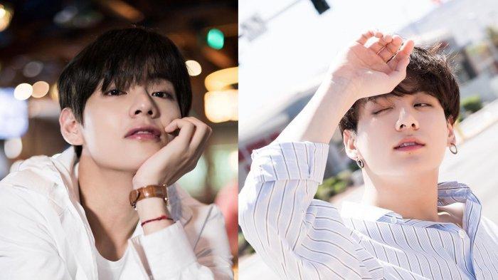 Tanpa Makeup, Begini Wajah-wajah Natural 7 Member BTS, Jungkook dan V BTS Pasang Muka Bantal