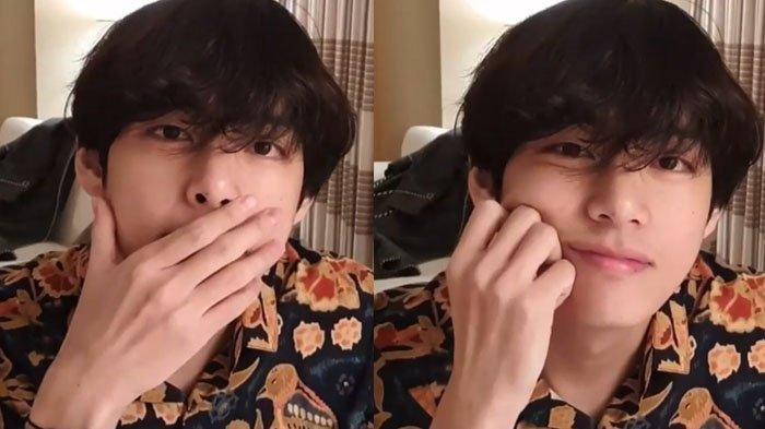 Kenakan Baju Batik saat Siaran Langsung, V BTS  Berhasil Bikin Fans Histeris