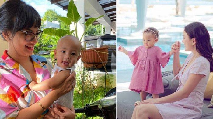 Vanessa Angel Tiru Cara Shandy Aulia Ajari Anak yang Masih Bayi Berenang, Begini Reaksi Sang Suami
