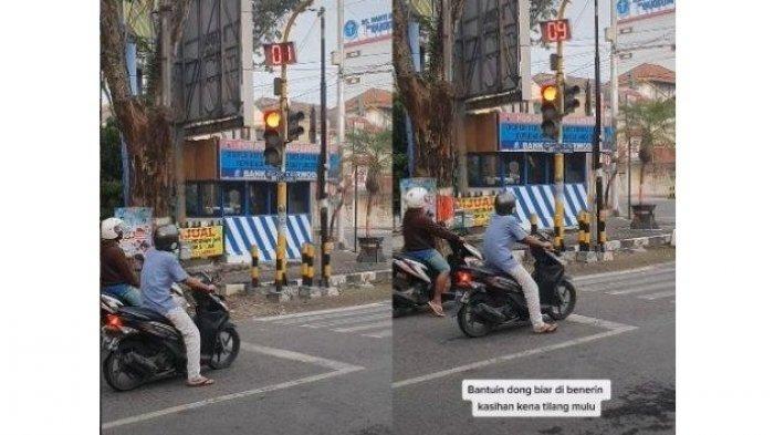 Viral Pengendara Motor di Grobogan Kena 'Prank' Lampu APILL, Sudah Mau Hijau Malah Balik Merah Lagi