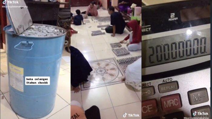 Viral Keluarga Bongkar Celengan 5 Tahun di Drum Besar, Ternyata Butuh Waktu 3 Jam untuk Membuka