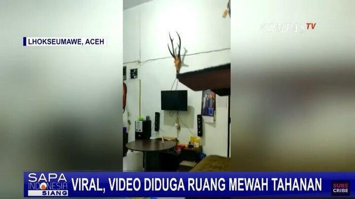 Beredar Video Ruangan yang Diduga Sebuah Tahanan Mewah di Lapas Aceh, Begini Penjelasan Kalapas