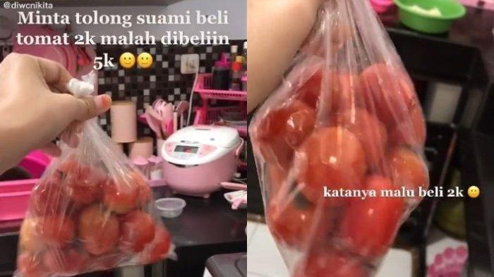 Viral Istri Minta Suami Beli Tomat Rp 2 Ribu, Malah Beli Rp 5 Ribu, Alasannya Bikin Geleng Kepala