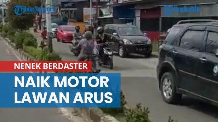 Viral Video Nenek Naik Motor Lawan Arus, Motornya Ternyata Tak Ada Pelat Nomor, Polisi Buru Si Nenek