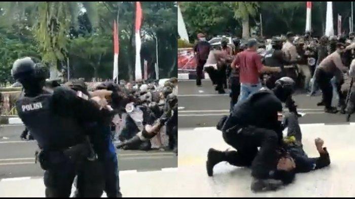 Ini Sosok Oknum Polisi yang Banting Mahasiswa saat Demo di Tangerang, Berpangkat Brigadir