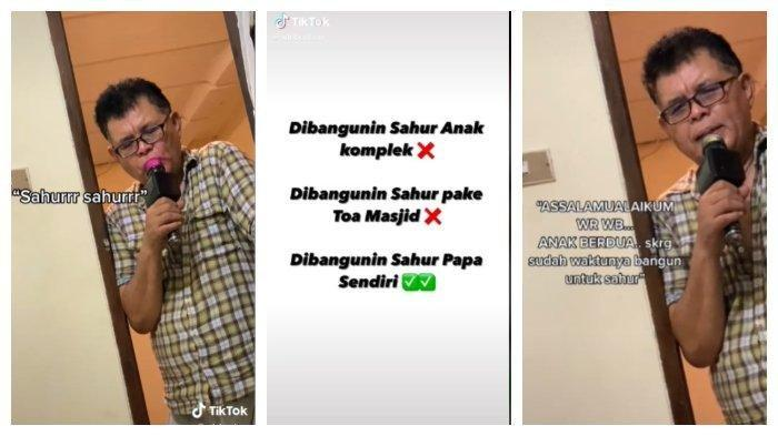 Viral Aksi Ayah Bangunkan Anak-anaknya Sahur Pakai Mic Karaoke, Bikin Netizen Terhibur