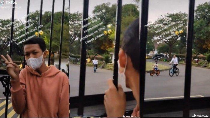 Niat Bikin Vlog di Depan Gedung Agung, Pemuda Ini Kaget Tiba-tiba Disapa Presiden Jokowi