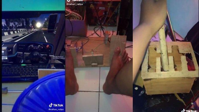 Viral di Tik Tok, Seorang Mahasiswa Rakit Kemudi Game Dari Toples Hingga Kayu Bekas