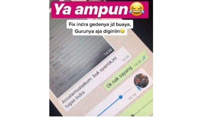 Viral Aksi Kocak Bocah SD Beri Pujian ke Guru Pakai Voice Note, Ternyata Begini Kisah di Baliknya