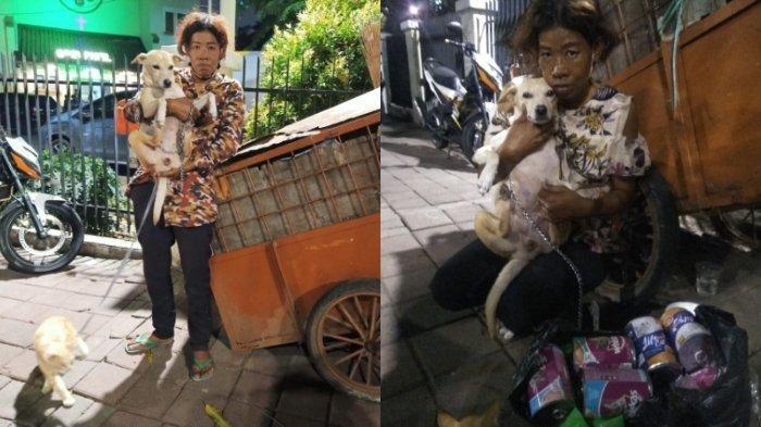 VIRAL Wanita Tinggal Bersama Anjing dan Kucingnya di Gerobak, Tetap Beri Dry Food Meski Uang Sedikit