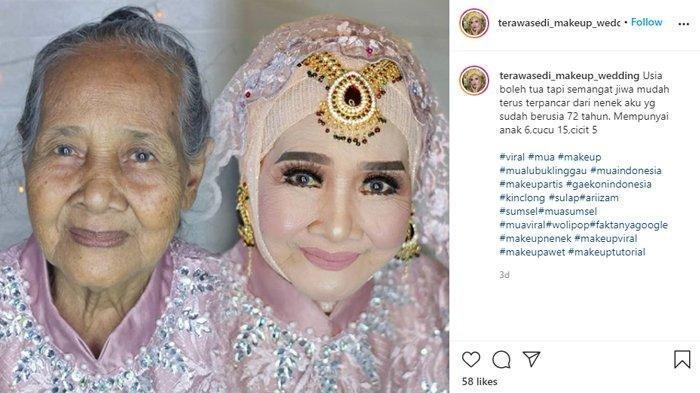 Kisah di Balik Viralnya Foto Nenek Umur 72 Tahun Jadi Tampak Lebih Muda, MUA-nya Ternyata Sang Cucu