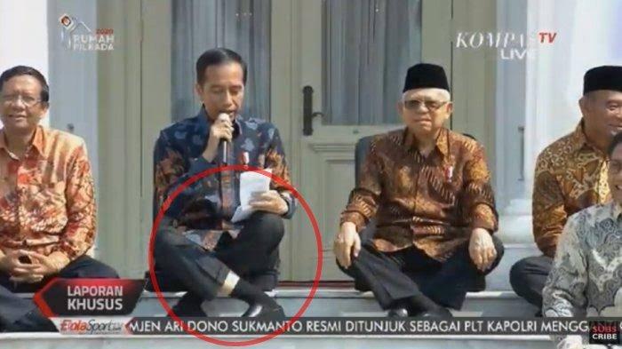 Viral Gaya Duduk Jokowi di Tangga Istana Negara, Benarkah Ada Kelainan? Ini Kata Dokter Spesialis