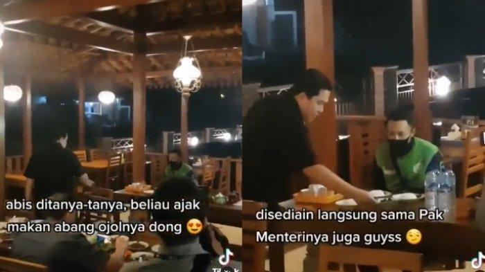 Viral Driver Ojol Minta Foto Bareng Erick Thohir Berujung Ditraktir Makan, Ternyata Begini Kisahnya